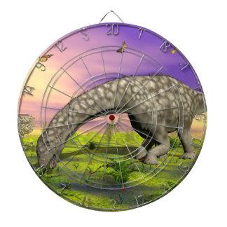 Argentinosaurus dinosaur eating - 3D render Dartboard
