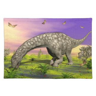 Argentinosaurus dinosaur eating - 3D render Place Mat