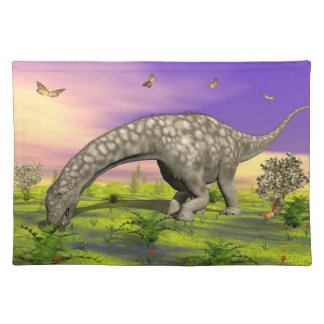 Argentinosaurus dinosaur eating - 3D render Placemat