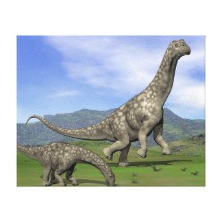 Argentinosaurus dinosaurs - 3D render Canvas Print