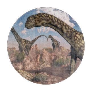Argentinosaurus dinosaurs - 3D render Cutting Board