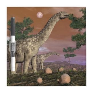 Argentinosaurus dinosaurs - 3D render Dry Erase Board