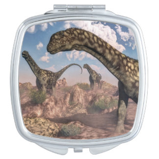 Argentinosaurus dinosaurs - 3D render Vanity Mirror