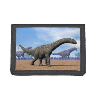 Argentinosaurus dinosaurs walk - 3D render Trifold Wallets