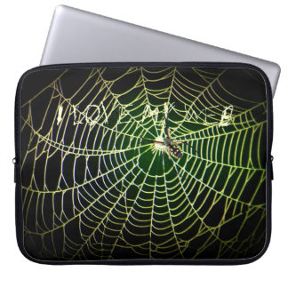 """Argiope spider web """"I Love My Web"""" Laptop Computer Sleeves"""