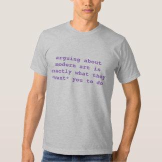 arguing about modern art t shirt