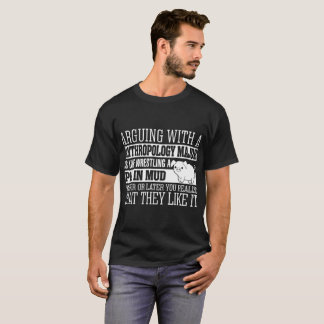 Arguing Anthropology Major Wrestling Pig Tshirt