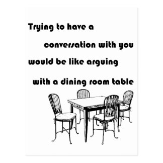 Arguing with a Dining Room Table Postcard