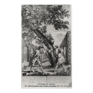 Argument between Jean-Jacques Rousseau Poster