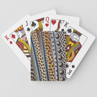 Argus Pheasant wing feathers Playing Cards