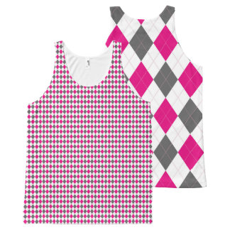 Argyle aClassical All-Over Print Singlet