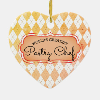 argyle baking pastry chef Christmas ornament