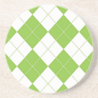 Argyle Beverage Coaster - Lime SQ