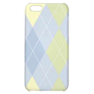 Argyle Blue and Yellow Case For iPhone 5C