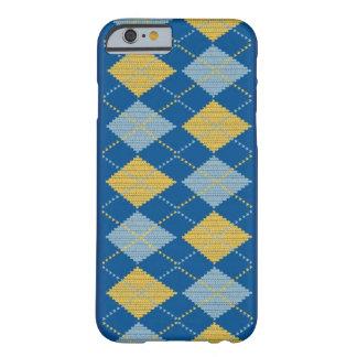 Argyle Blue Barely There iPhone 6 Case