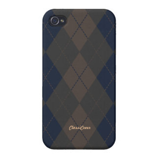 Argyle Blue Green Tan Pattern Savvy iPhone 4 Cases