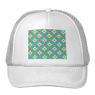 Argyle blue turtle pattern trucker hat