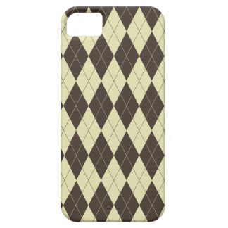 Argyle Brown and White Cream iPhone 5 Covers