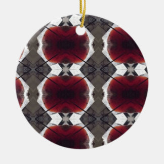 Argyle Circle Christmas Ornamanet Round Ceramic Decoration