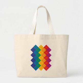 Argyle Color Spectrum Canvas Bags