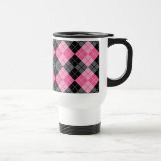 Argyle Design Stainless Steel Travel Mug