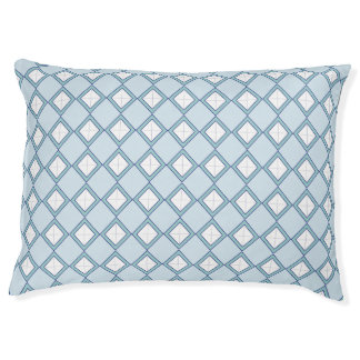 Argyle/Diamond Blue Dog Bed