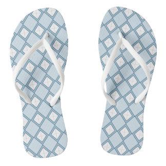 Argyle/Diamond Blue Flip Flops
