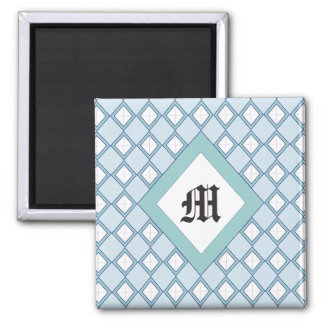 Argyle/Diamond Blue Monogram Magnet