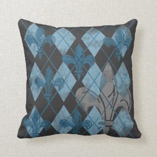 Argyle Fleur de lis Pillows