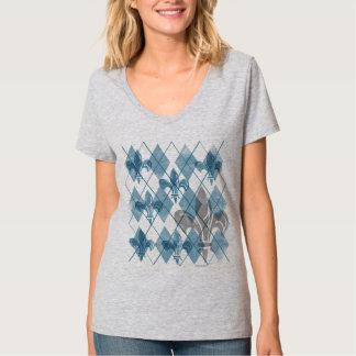 Argyle Fleur de lis Women's Tshirts