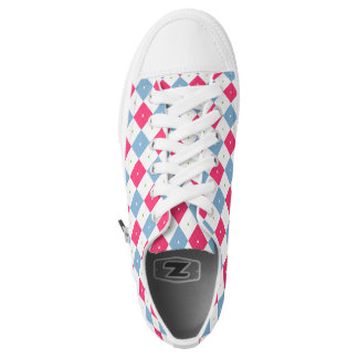 Argyle & Hearts Printed Shoes