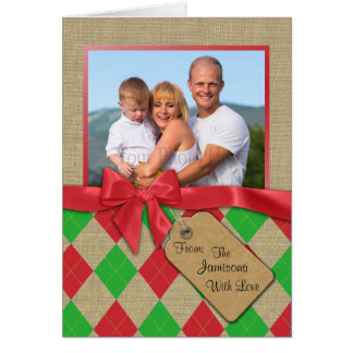 Argyle Holiday Photo Card