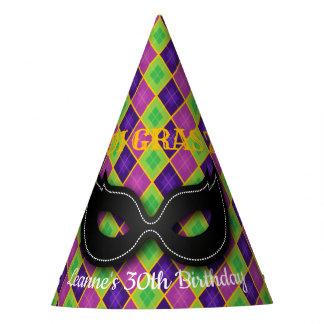Argyle Mardi Gras Party Party Hat