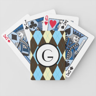 Argyle Monogram Bicycle Playing Cards