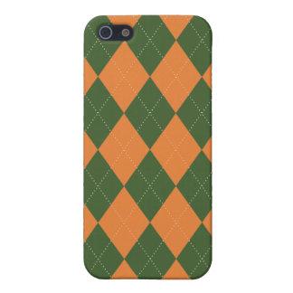 Argyle (orange/green) case for iPhone 5