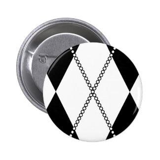 Argyle Pattern 1 Black and White Pin