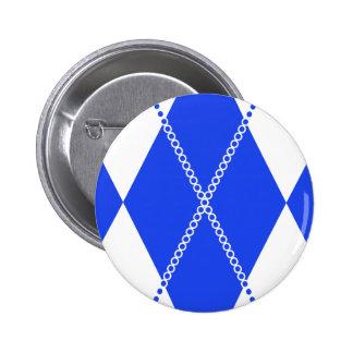 Argyle Pattern 1 Blue Buttons