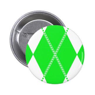 Argyle Pattern 1 Green Pinback Button