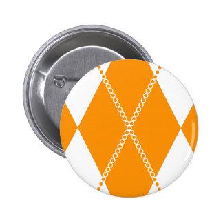 Argyle Pattern 1 Orange Pins