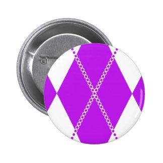 Argyle Pattern 1 Purple Buttons