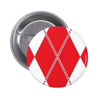 Argyle Pattern 1 Red Pins