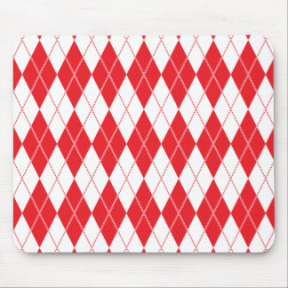 Argyle Pattern 1 Red Mousepads