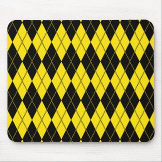 Argyle Pattern 1 Yellow Mousepads