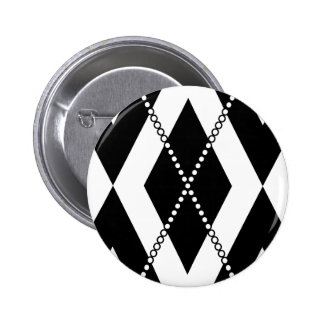 Argyle Pattern 2 Black and White Pin