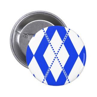 Argyle Pattern 2 Blue Pins