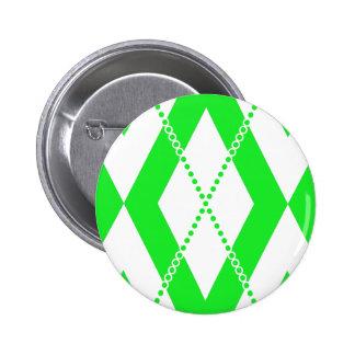 Argyle Pattern 2 Green Pinback Button