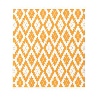 Argyle Pattern 2 Orange Memo Notepads