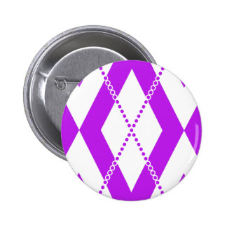 Argyle Pattern 2 Purple Button