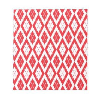 Argyle Pattern 2 Red Notepads