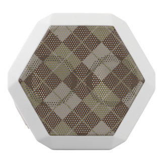 Argyle Pattern White Boombot Rex Bluetooth Speaker